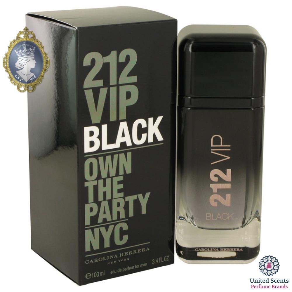ba874622c Details about Carolina Herrera 212 VIP Black for Men 100ml/3.4fl Eau De Parfum  Perfume Spray